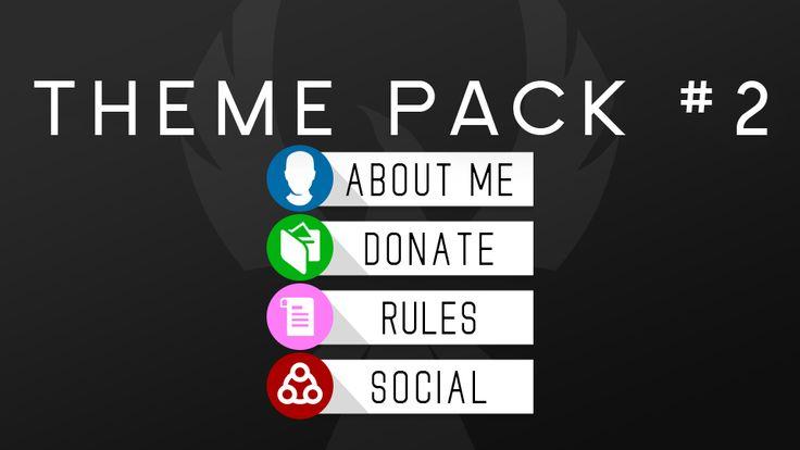 Free Twitch Panel Theme Packs Twitch Templates Theme