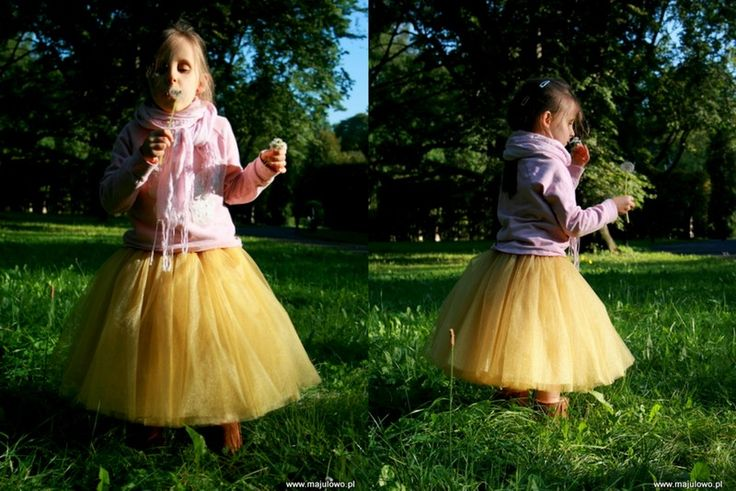 Gold, Autumn, tulle skirt.