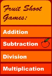 Froot Shoot Math game