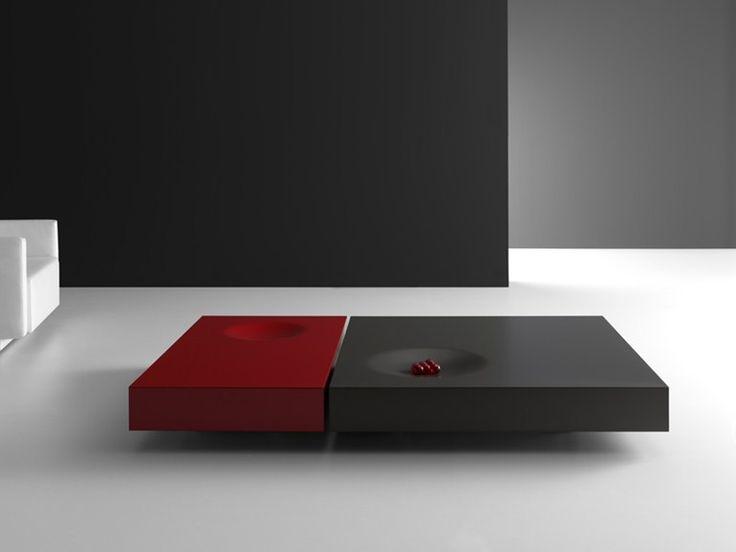 Mesa de centro baixa lacada retangular PLAT by Kendo Mobiliario   design Estudi Arola