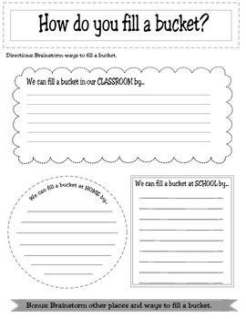 BUCKET FILLING CLASSROOM ACTIVITY PACKET - TeachersPayTeachers.com