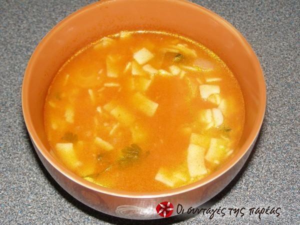 Σούπα με χυλοπίτες #sintagespareas