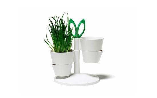 Macetas para hierbas aromáticas con tijera incorporada