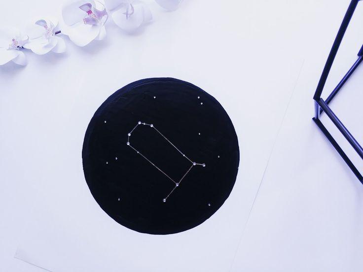 DIY Zodiac Constellation Wall Art