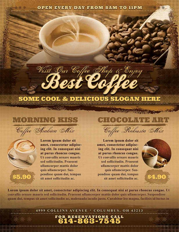 9 best Flyer Design images on Pinterest Flyer design, Custom - coffee shop brochure template