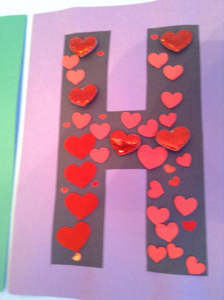 H is for heart craft preschool craft letter of the for Letter k crafts for toddlers