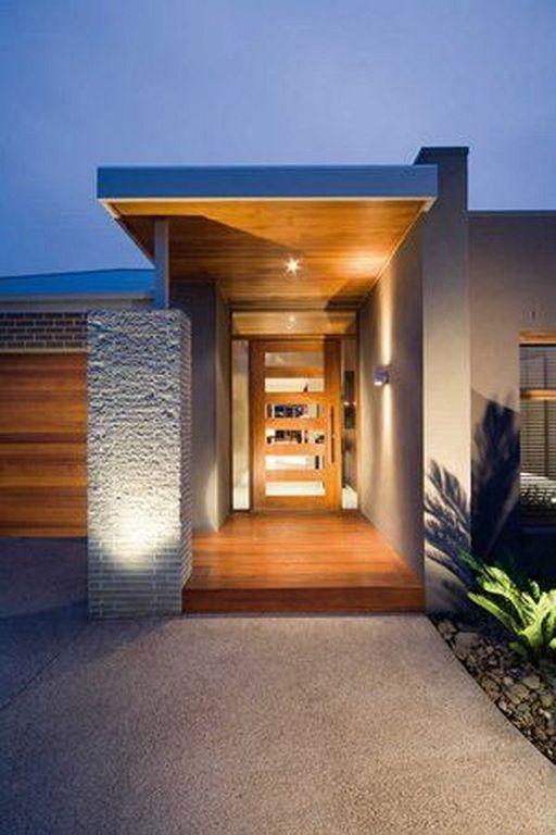 Modern House Exterior Design Front Door Ideas Wood Facade Wooden Garage Door: 20+ Modern Wooden Walkways Designs In Front Door (With Images)