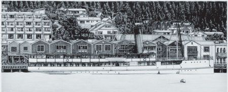 TSS Earnslaw, Queenstown (2003) - Limited edition canvas prints.