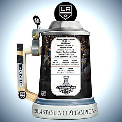 Los Angeles Kings 2014 Stanley Cup Champions Stein - Reverse