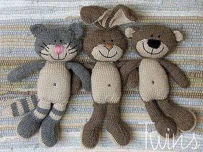 Knitted toys by Twin's