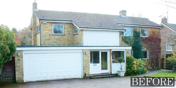 This 1960s house had dated brickwork and upvc casement for Before after exterior 1930