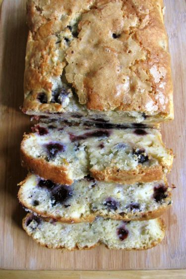 Blueberry cream cheese bread: Easy quick bread, loaded with blueberries and chunks of cream cheese
