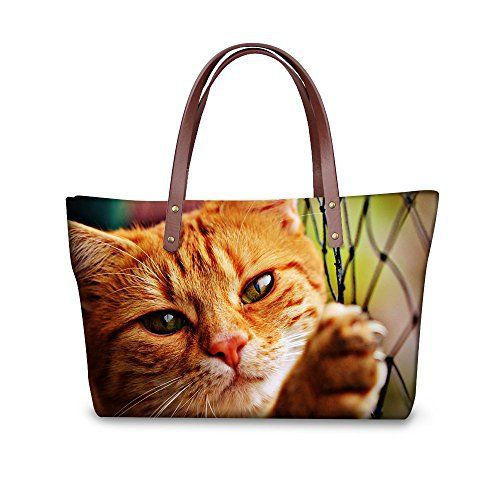 New Trending Tote Bags: FOR U DESIGNS Cute Cat Animal Print Velvet Handbags Tote Messanger Bag for Lady/Women/Young Girl. FOR U DESIGNS Cute Cat Animal Print Velvet Handbags Tote Messanger Bag for Lady/Women/Young Girl   Special Offer: $31.99      188 Reviews our women handbags could be described as below: 1, protection for inside items,specially soft velvet material inside, abrasion resistance 2,full of...