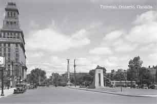 CCT0061 - University Avenue looking north toward Queen Street West from Richmond Street West. Toronto, Ontario June 23, 1939.