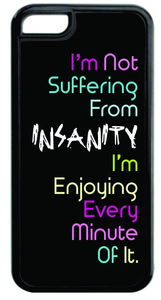 """""""I'm Not Suffering From Insanity..."""" Funny Quote in Color Black Plastic Apple iPhone 7 Case Made in the U.S.A. High Quality Black Plastic Case for the Apple iPhone 7! THIS CASE IS NOT COMPATIBLE WITH THE APPLE IPHONE 7 PLUS (7+). Permanent Quality Vibrant Flat-Printed Image. No Textured or 3D Print. Quick Processing and Shipping! Ships from the U.S.A. High Level of Customer Service. Satisfaction Guaranteed or Replacement or Refund. Jack's Outlet Inc. is the Brand Owner and Manufacturer of..."""