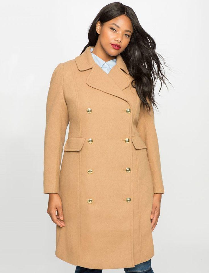 Eloquii Camel Longline Coat