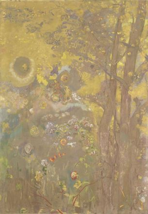 Odilon Redon, Trees on a Yellow Background, 1901