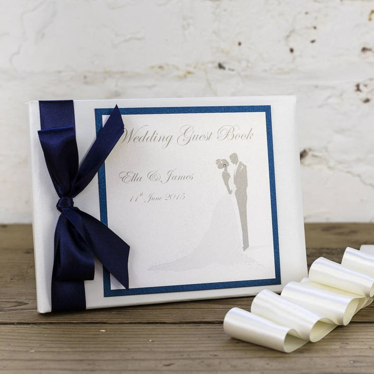 personalised bride&groom wedding guest book by dreams to reality design ltd | notonthehighstreet.com
