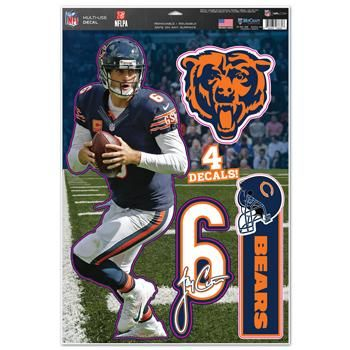 Chicago Bears Decal 11x17 Multi Use Jay Cutler Special Order