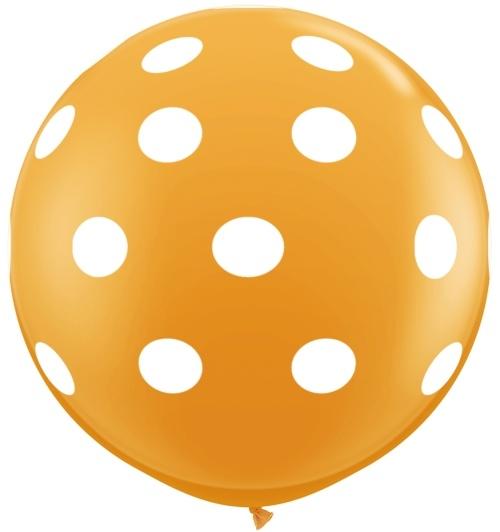 Orange Polka Dot balloon