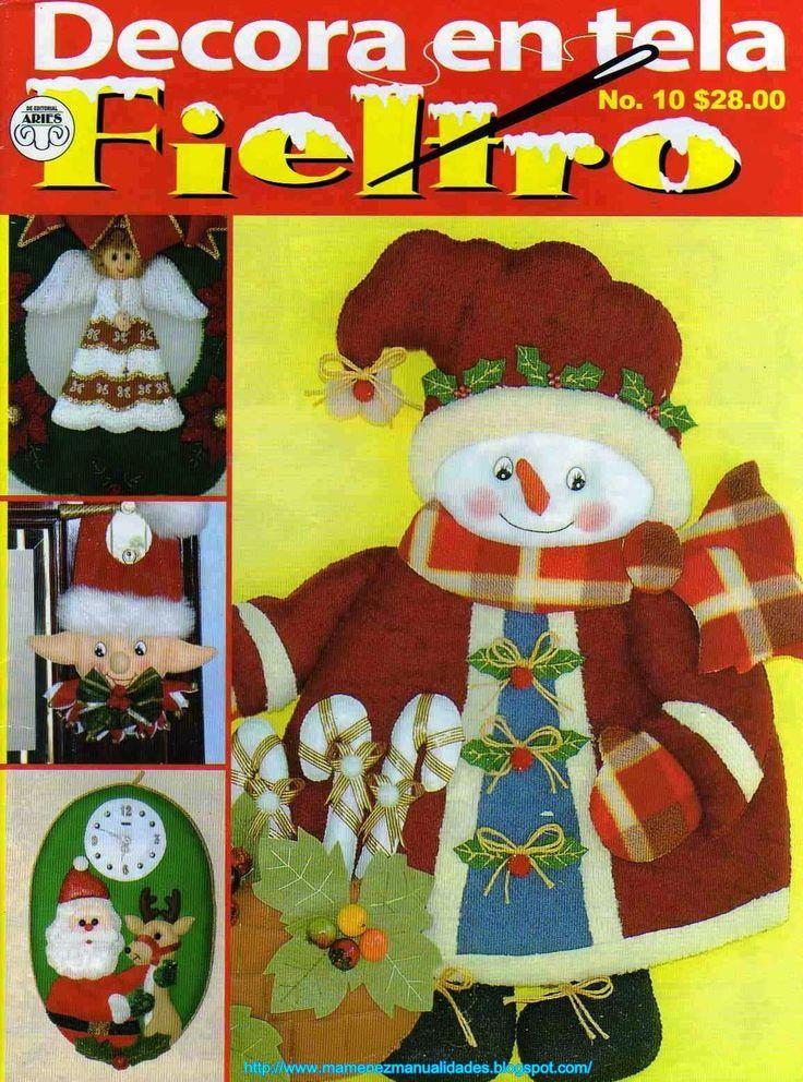Revistas de Fieltro gratis: muñecos en fieltro para navidad