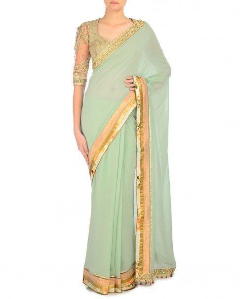 Jade Mughal Resham Saree - Tarun Tahiliani - Designers