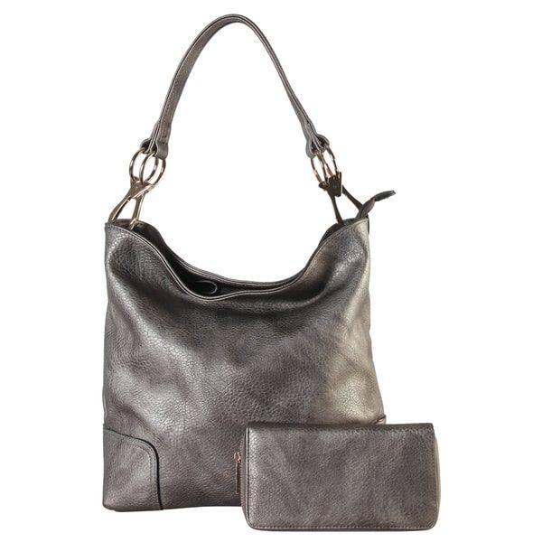 Rimen & Co. Hobo Handbag with Matching Wallet (2-piece Set) | Overstock.com Shopping - The Best Deals on Hobo Bags