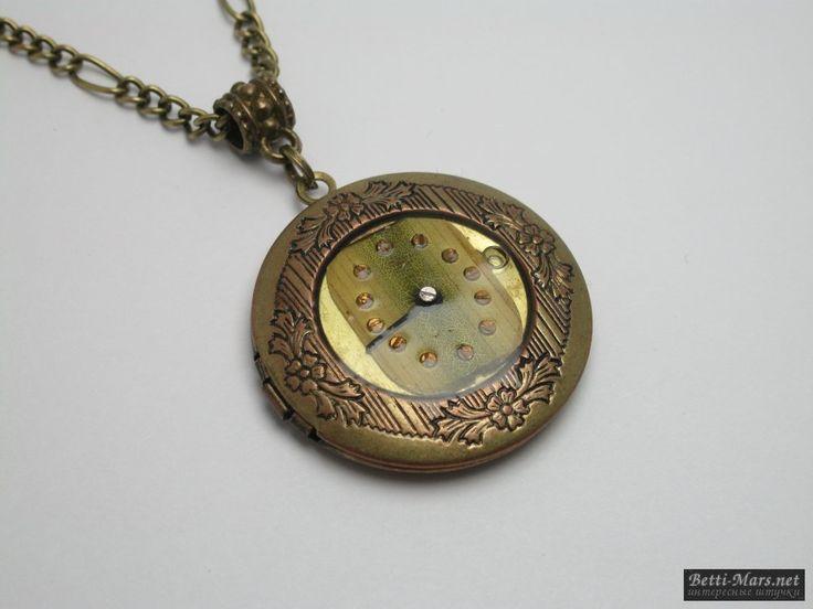 Медальон открывающийся в стиле Стимпанк на цепочке