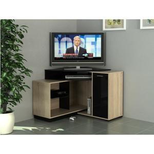 MEUBLE TV Meuble TV d'angle AMAEL avec rangements - Coloris