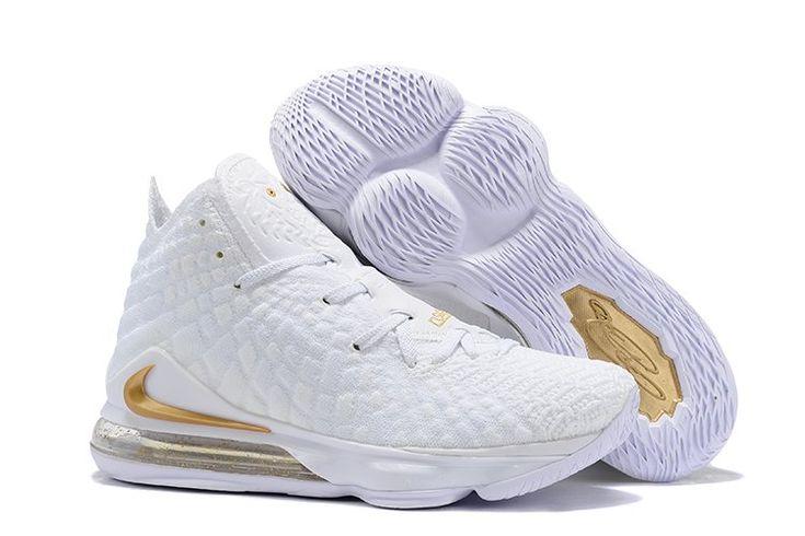 nike Lebron 17 White/Metallic Gold   Lebron james shoes, Nike ...