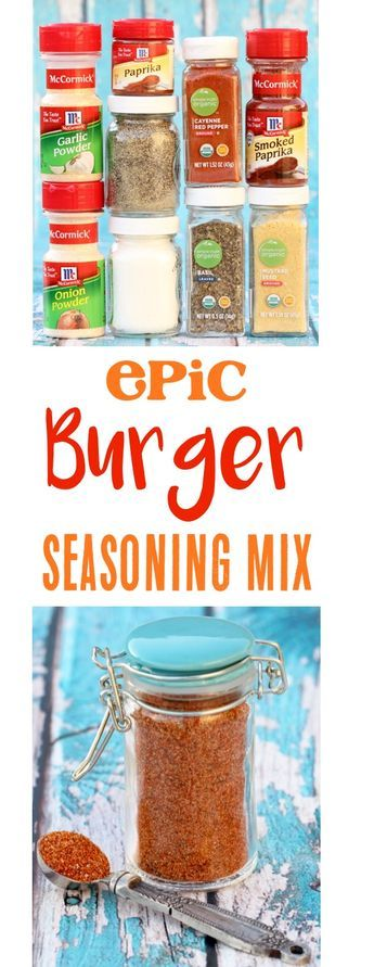Burger Seasoning Recipe for the Best Hamburgers Ever! This delicious blend of spices will have you in Cheeseburger paradise! Quick to make and SO delicious! | TheFrugalGirls.com