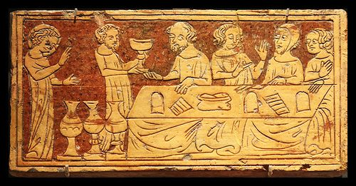 Tribus Miraculis II - Cana  The wedding at Cana is depicted here in the Medieval encaustic tile in the  British Museum