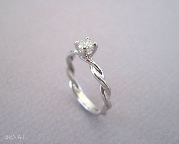 Diamond Knot Engagement Ring Diamond Infinity Ring by Benati