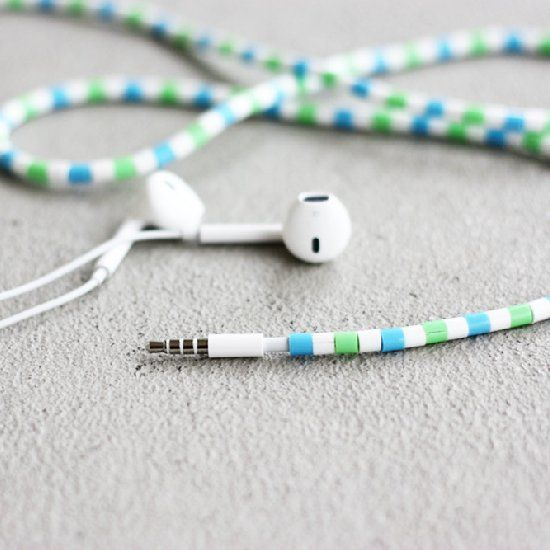 Stand out with Hama bead earphones. No more wire mess!