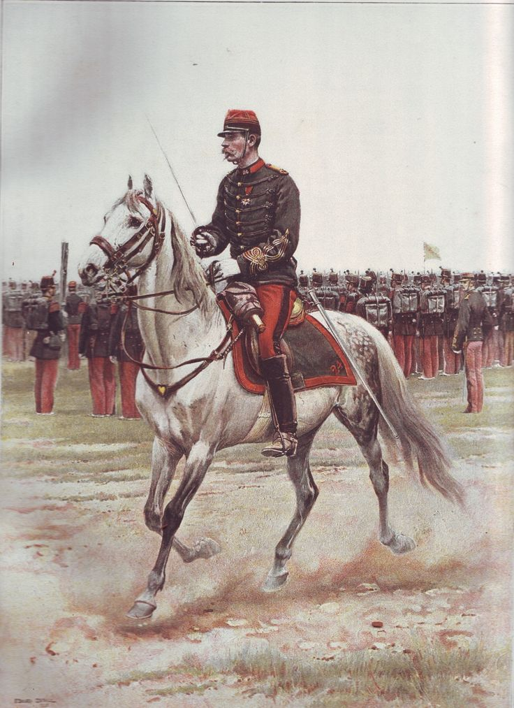 French Army 1900 Infantry Adjutant by Édouard Detaille