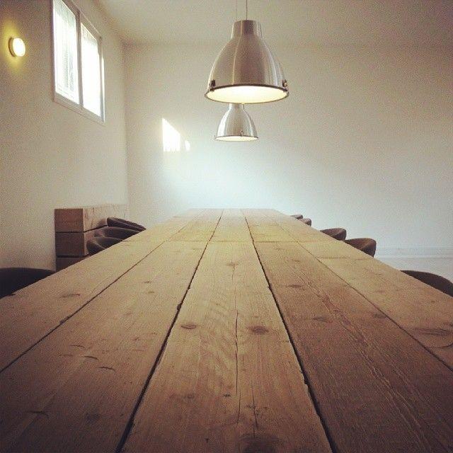 Mooie tafelblad van steigerhout. Wil je ook een tafel van steigerhout? Mail dan naar info@alshetmaarvanhoutis.nl