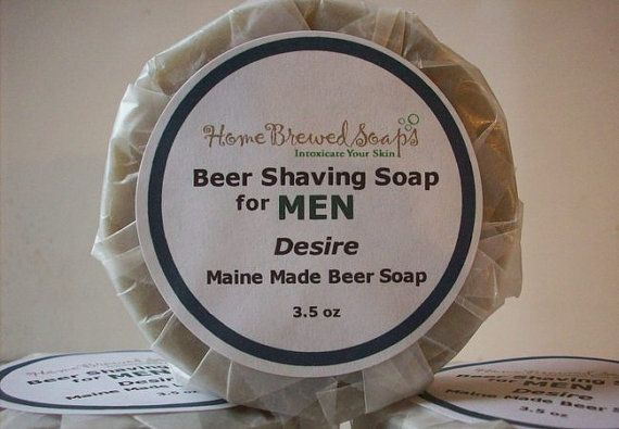 Desire Beer Shaving Soap for Men.... This is the ultimate shaving soap.... Packed with skin softenting oils, creamy shea butter and clay to help lather and absorb excess oils and dirt from the skin. Made with home brewed ale beer.. shea butter, avocado oil , coconut, castor and olive...and it smells amazing! Scented with top notes of Oak Moss & cedar wood for an earthy sexy scent with undertones of geranium and grapefruit . You won't want to use shaving cream ever again... :)