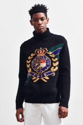 Crest Wool Vtg Retro About Lauren Intarsia Details Ralph Men