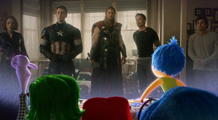 Inside Out Emotional Reaction to Avengers: Age of Ultron Trailer (i got the same reaction when Ultron was on screen)