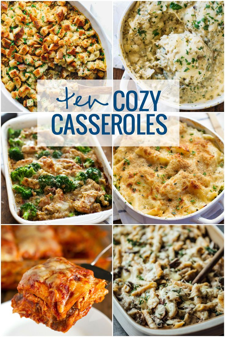 The Top 10 casseroles from Pinch of Yum. These casseroles are guaranteed to keep you warm and cozy this winter. Vegetarian and gluten-free options too!