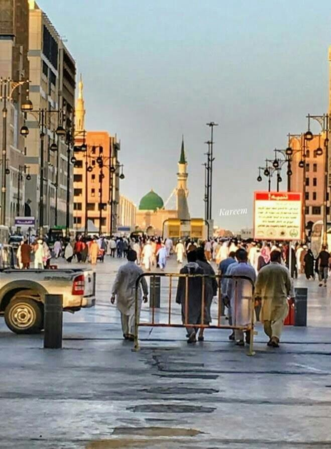 Pin By Zahra Bastani On I Love You Allah Mian Madina Medinah Street View
