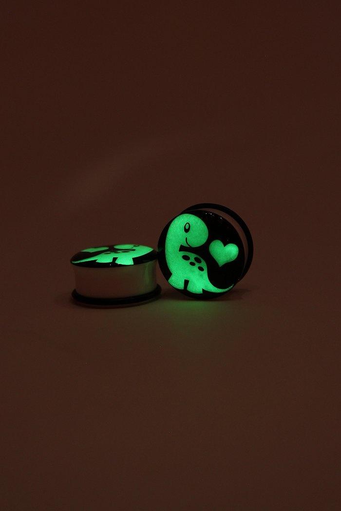 glow in the dark dino plugs