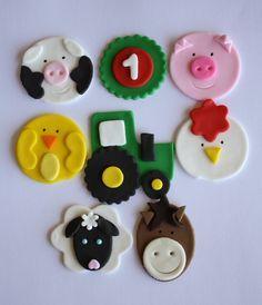 Farm Animal Cupcake Topper Variety Two Dozen