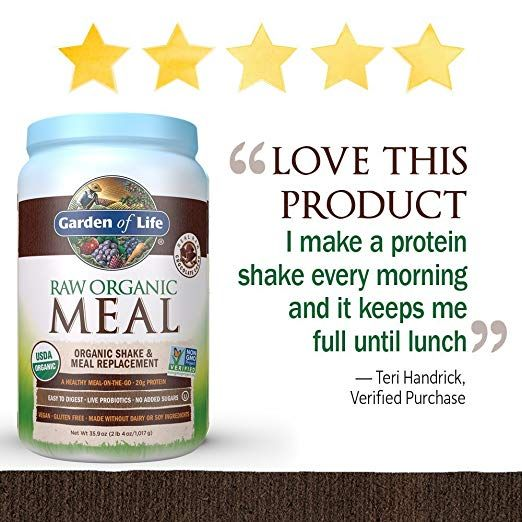 Garden Of Life Meal Replacement Organic Raw Plant Based Protein