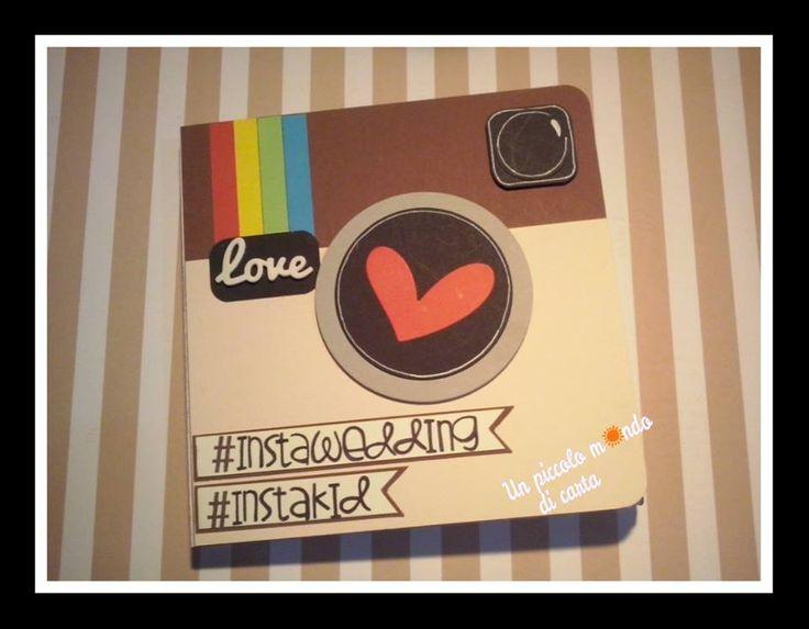#scrapbookingcard #weddigcard #instagramcard #unpiccolomondodicarta