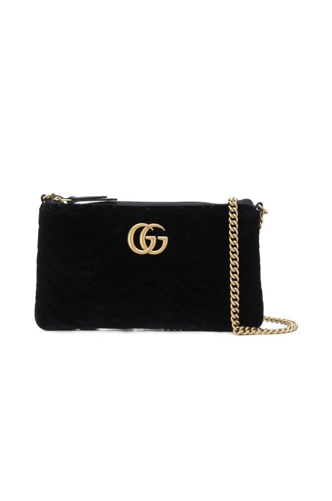 92fe789f3c27 Gucci Mini GG Marmont 2.0 Matelassé Velvet Shoulder Bag #Gucci #ShoulderBag