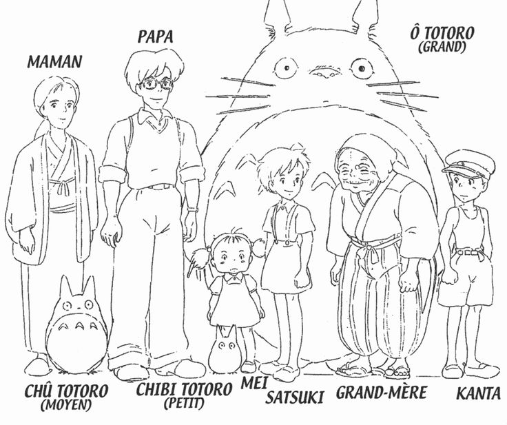 Studio Ghibli Totoro Coloring Pages