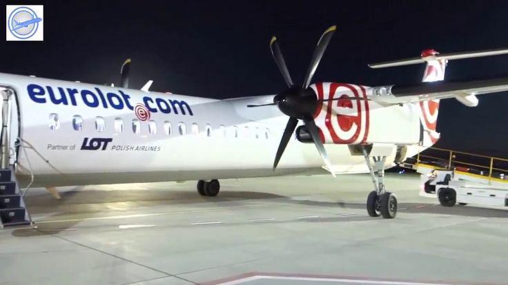 [Air Clip] Eurolot Dash 8-400 Cockpit flight Warsaw to Bydgoszcz