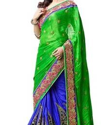 Buy Triveni Gorgeous Embroidered Dual Color Wedding Saree 2907 designer-embroidered-saree online
