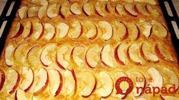 Pripravený skôr, ako vám zovrie voda na kávu: Bleskový koláč s jablkami!